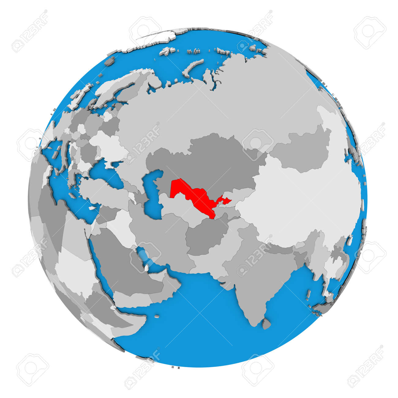 Usbekistan Karte.Stock Photo