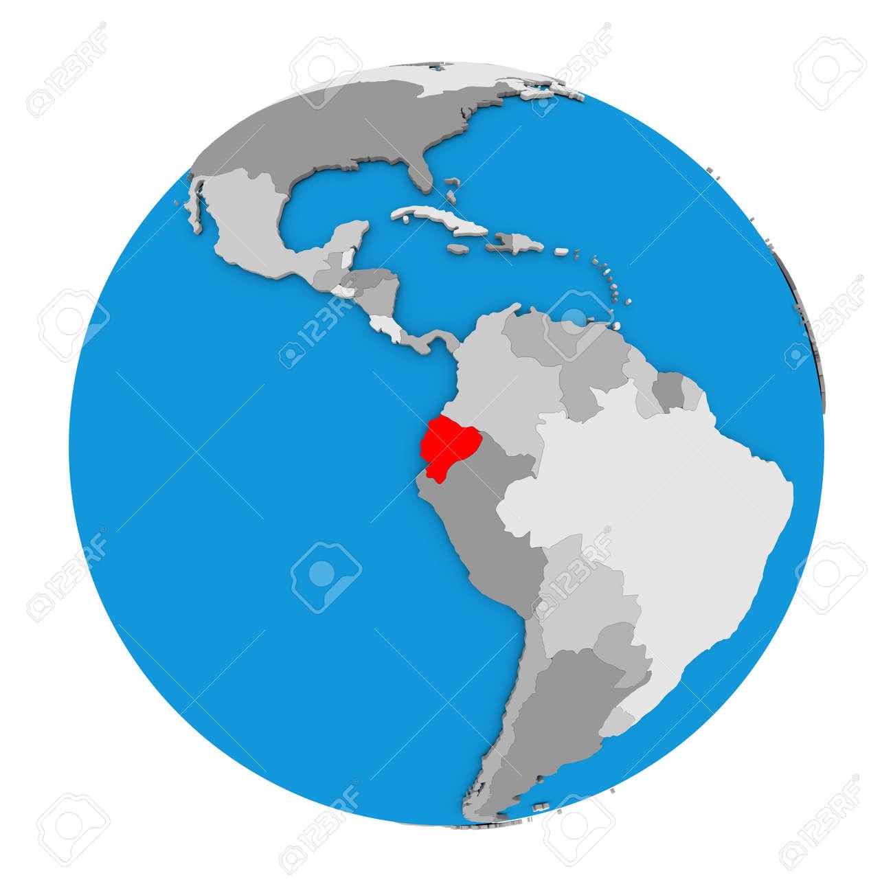 Ecuador Mapa Del Mundo.Mapa De Ecuador Resaltado En Rojo En El Mundo Ilustracion 3d Aislado Sobre Fondo Blanco Fotos Retratos Imagenes Y Fotografia De Archivo Libres De Derecho Image 68917501