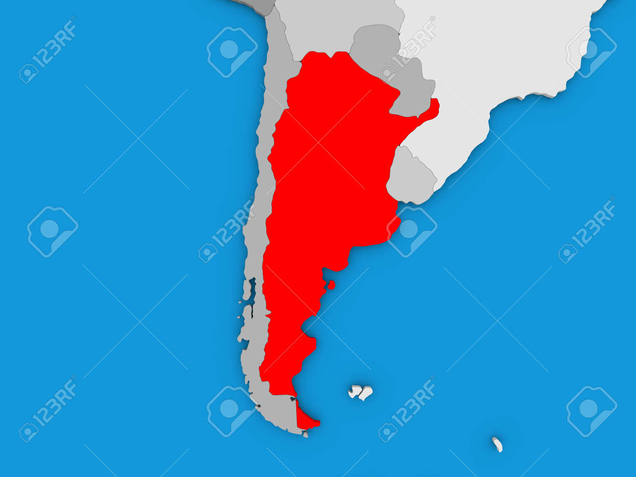Map of argentina on globe highlighted in red 3d illustration stock illustration map of argentina on globe highlighted in red 3d illustration gumiabroncs Images