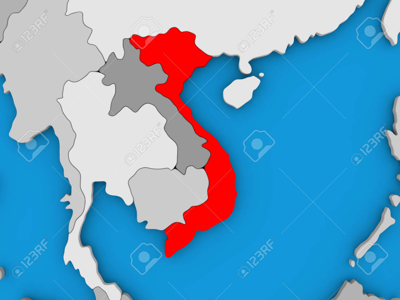 Picture of: Map Of Vietnam On Globe Highlighted In Red 3d Illustration Stock Photo Picture And Royalty Free Image Image 69169025