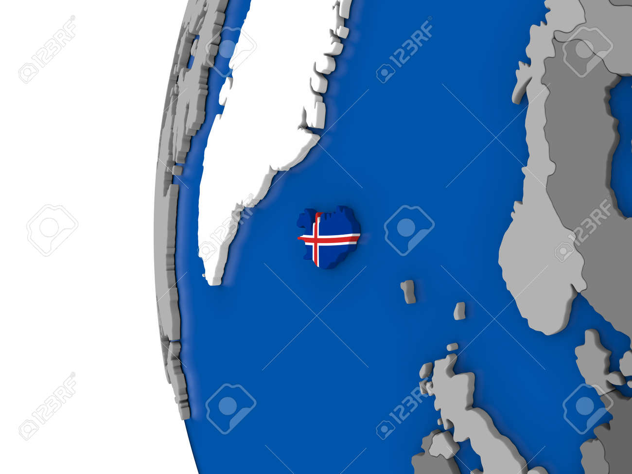 Map of iceland with its flag on globe 3d illustration stock photo illustration map of iceland with its flag on globe 3d illustration gumiabroncs