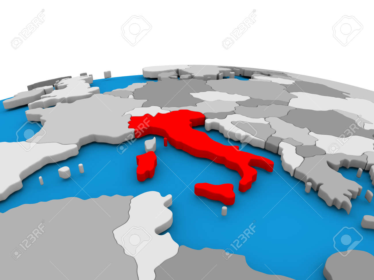 Map Of Italy Simple.Stock Illustration