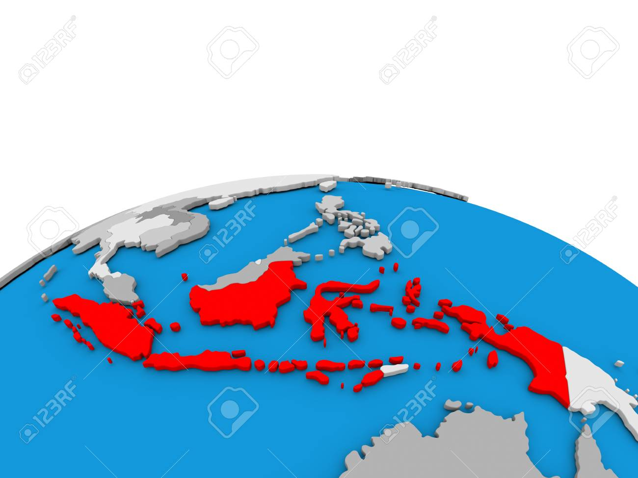 Map of indonesia highlighted in red on simple globe 3d illustration illustration map of indonesia highlighted in red on simple globe 3d illustration gumiabroncs Choice Image