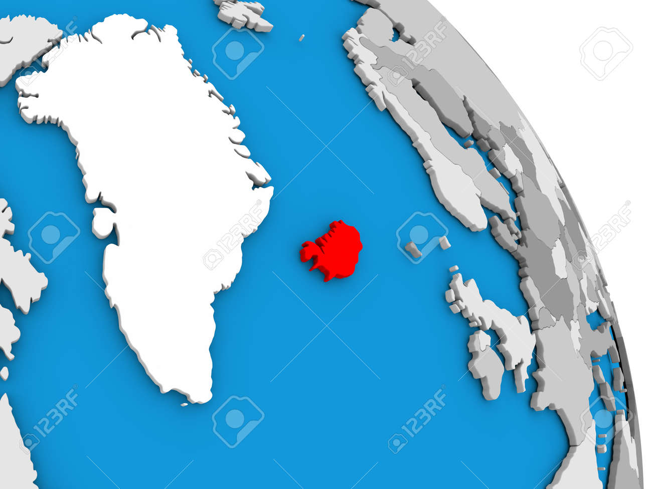 Iceland highlighted in red on simple globe with visible country iceland highlighted in red on simple globe with visible country borders 3d illustration stock illustration gumiabroncs Choice Image