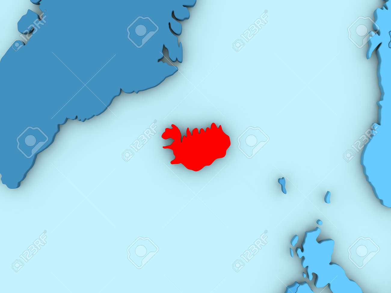Country of iceland highlighted in red on blue map 3d illustration country of iceland highlighted in red on blue map 3d illustration stock illustration 72016039 gumiabroncs Gallery