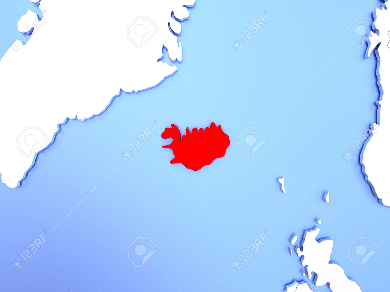 Map of iceland highlighted in red on simple shiny metallic map illustration map of iceland highlighted in red on simple shiny metallic map with clear country borders 3d illustration gumiabroncs Choice Image