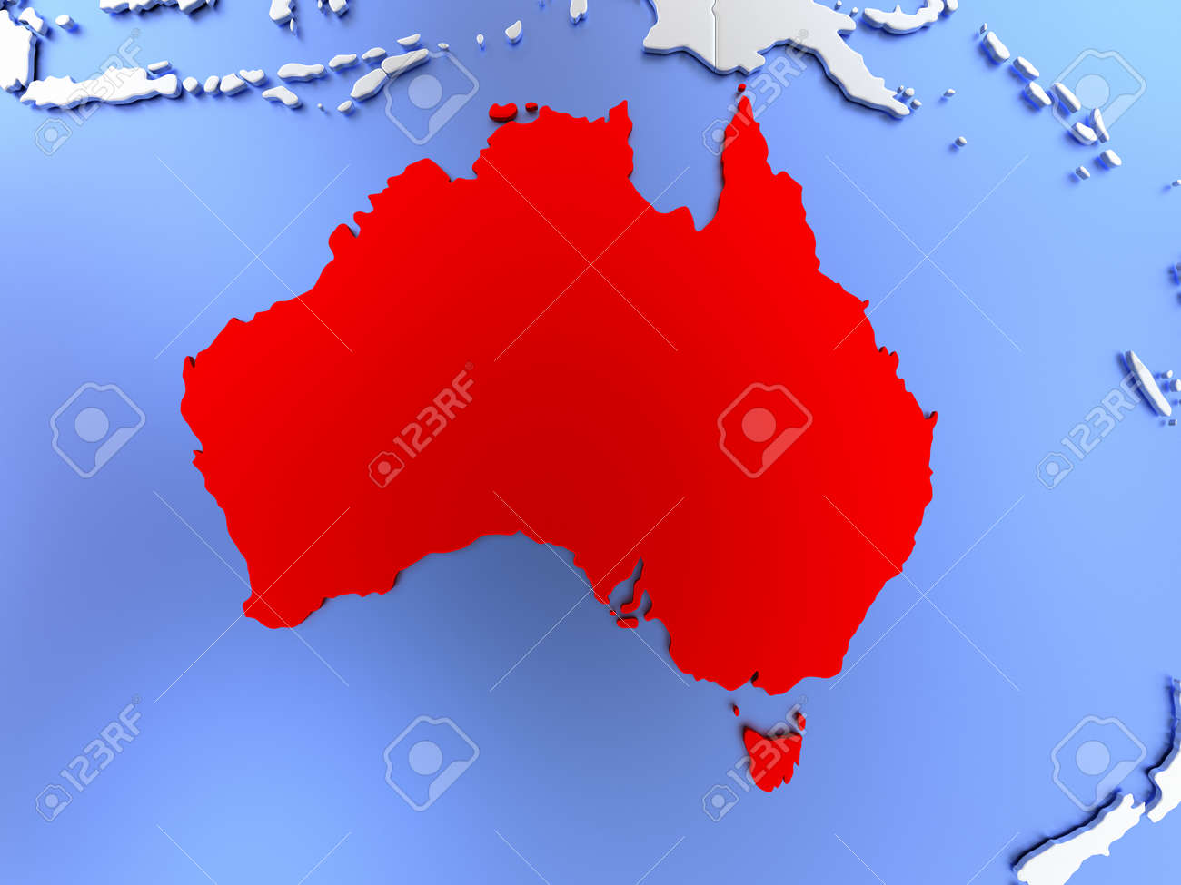 Clear Map Of Australia.Stock Illustration
