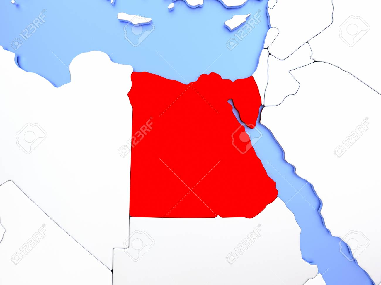 Map of egypt highlighted in red on simple shiny metallic map stock illustration map of egypt highlighted in red on simple shiny metallic map with clear country borders 3d illustration gumiabroncs Gallery