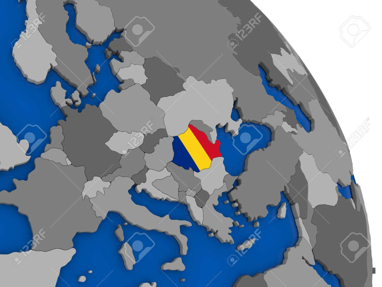 Political map romania with national flag symbol embedded into the political map romania with national flag symbol embedded into the country 3d illustration foto de gumiabroncs Images
