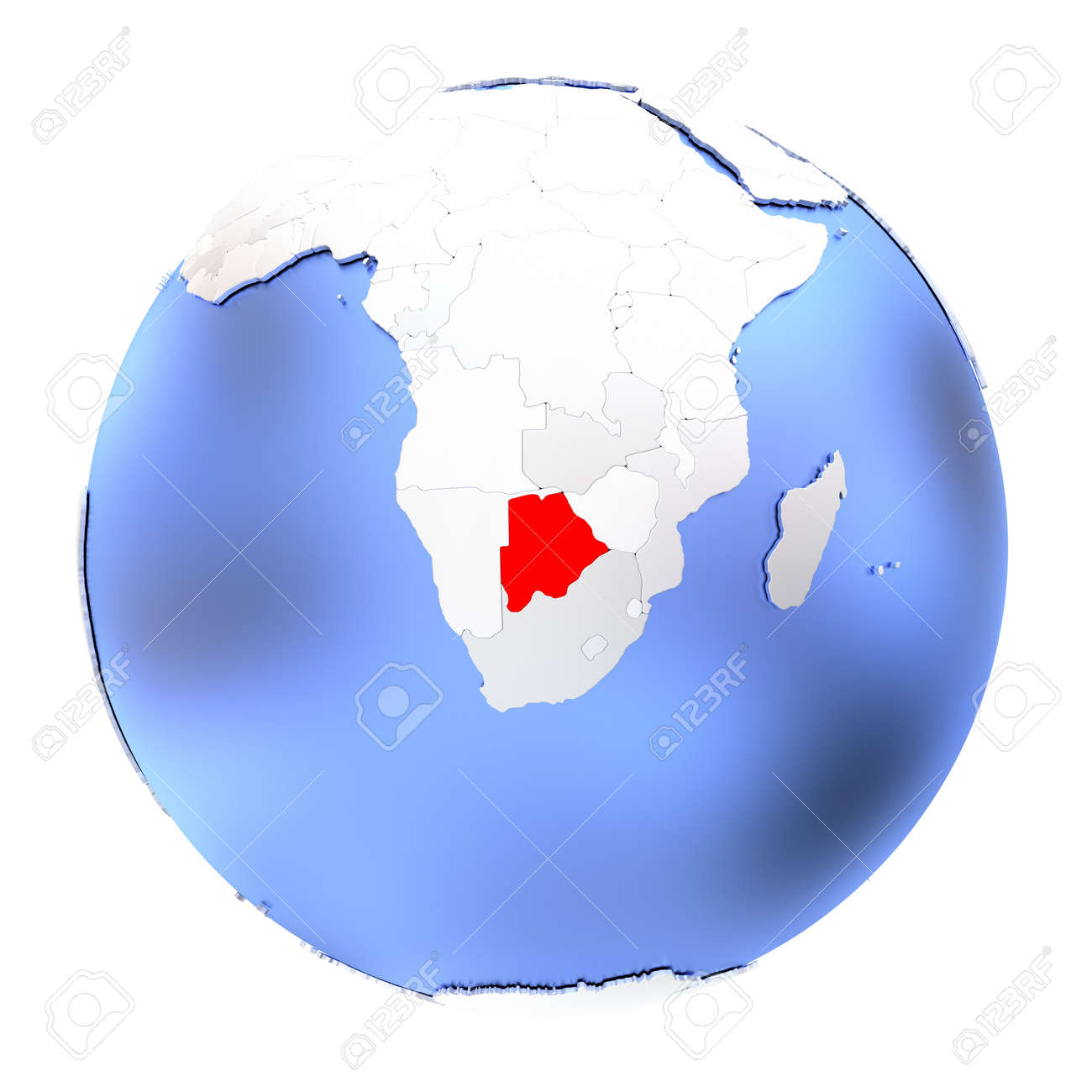 Picture of: Map Of Botswana On Metallic Globe 3d Illustration Isolated On Stock Photo Picture And Royalty Free Image Image 73433090