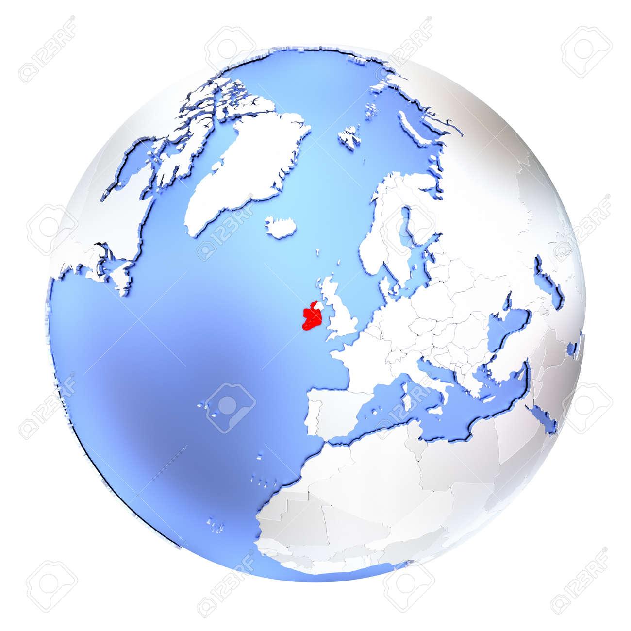 Map Of Ireland 3d.Stock Illustration