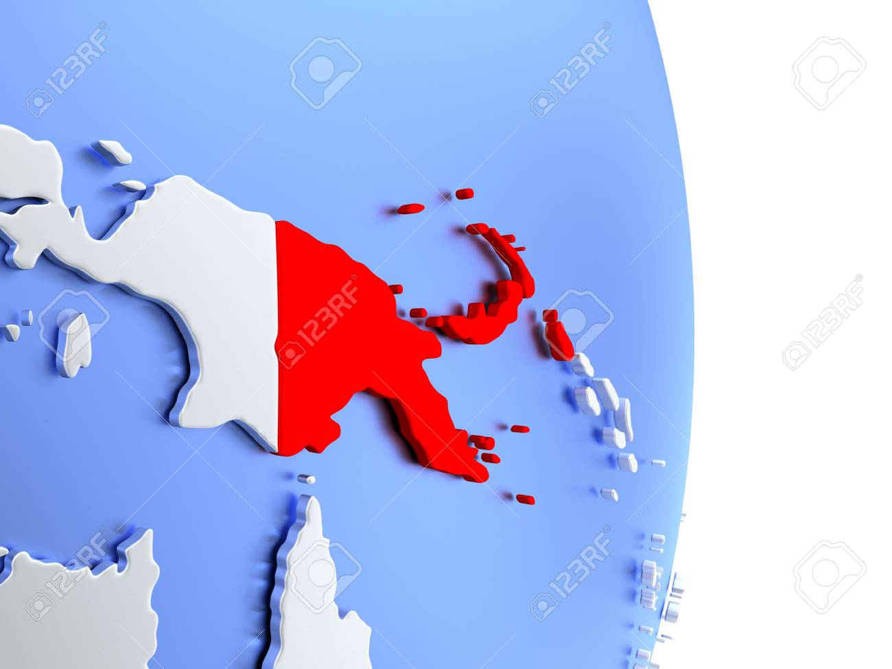 Us Map With State Abbreviations And Time Zones%0A map of papua new guinea map of papua new guinea on an elegant polished  globe  d