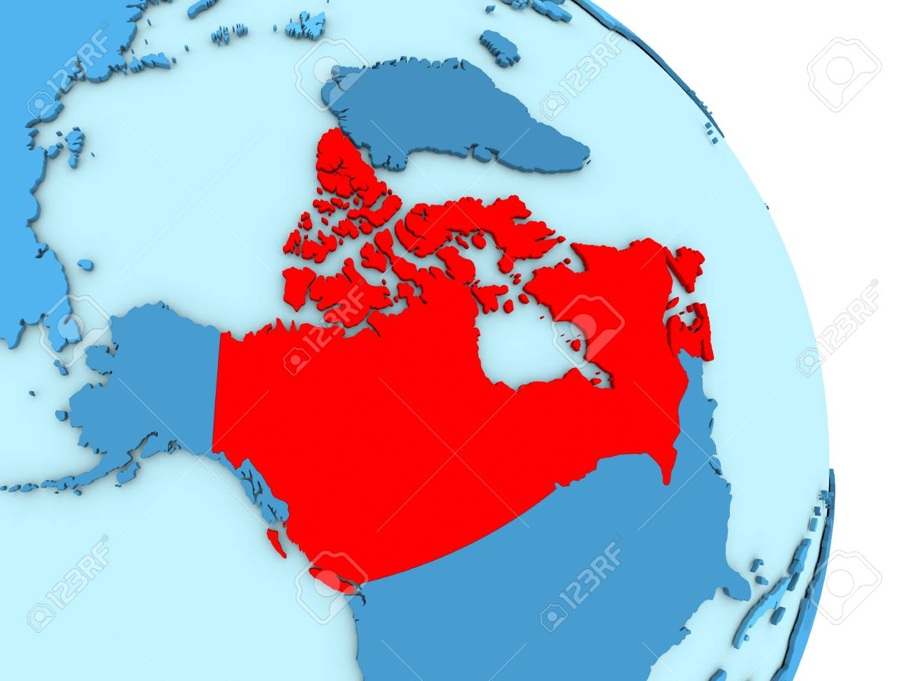 Simple Map Of Canada.Stock Illustration