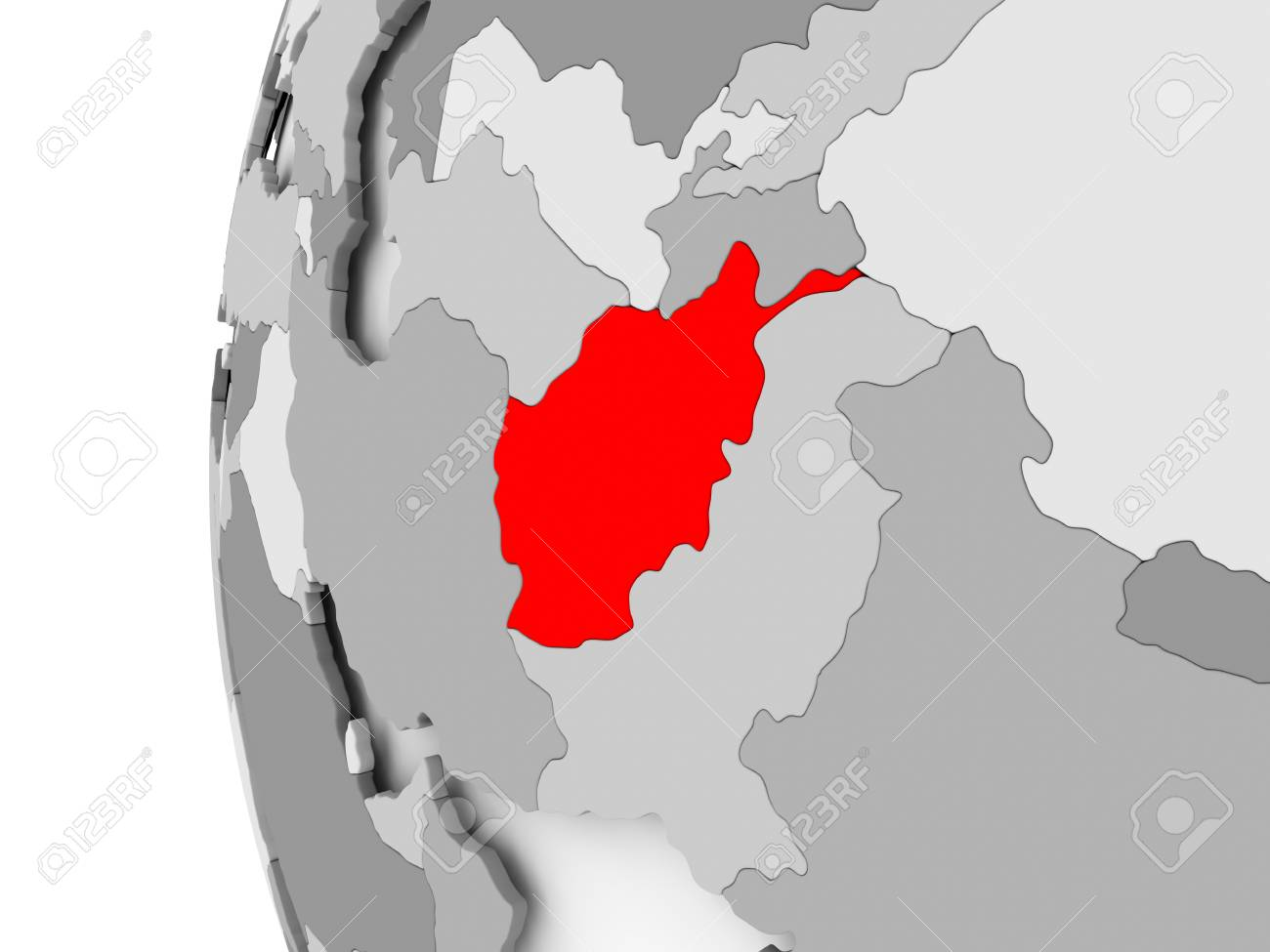 Afghanistan highlighted on grey 3d model of political globe stock afghanistan highlighted on grey 3d model of political globe 3d illustration stock illustration gumiabroncs Image collections
