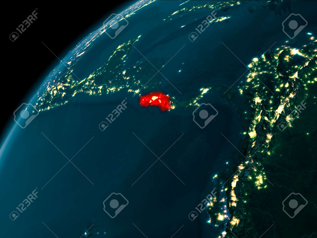 Night map of costa rica as seen from space on planet earth 3d illustration night map of costa rica as seen from space on planet earth 3d illustration gumiabroncs Image collections