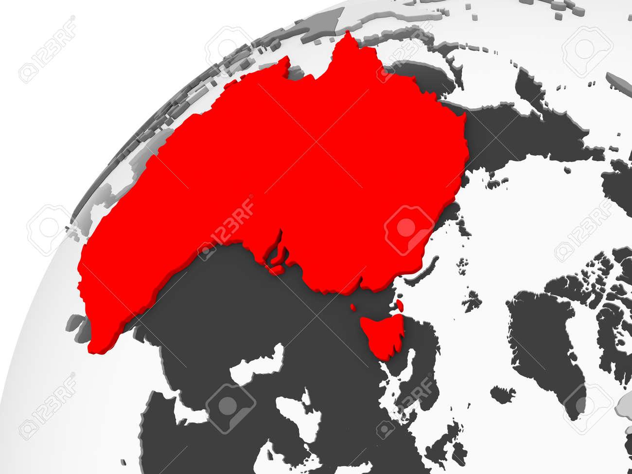 Australia Map Oceans.Stock Illustration