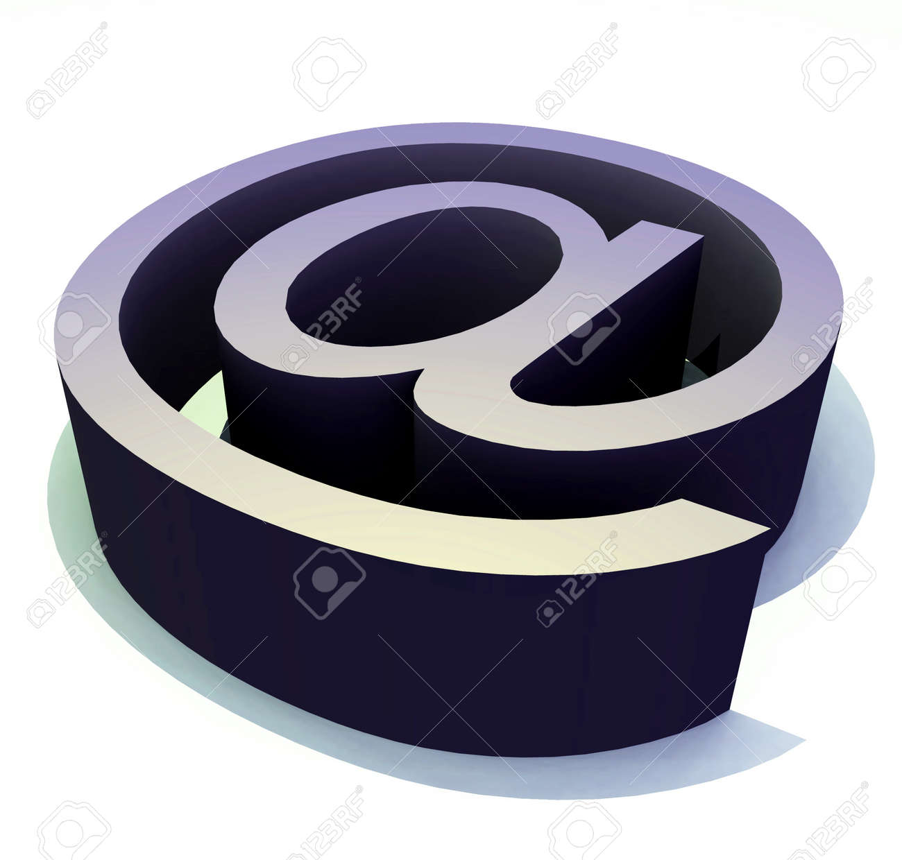 The Symbol That Is Used In Email Addresss Stock Photo Picture And