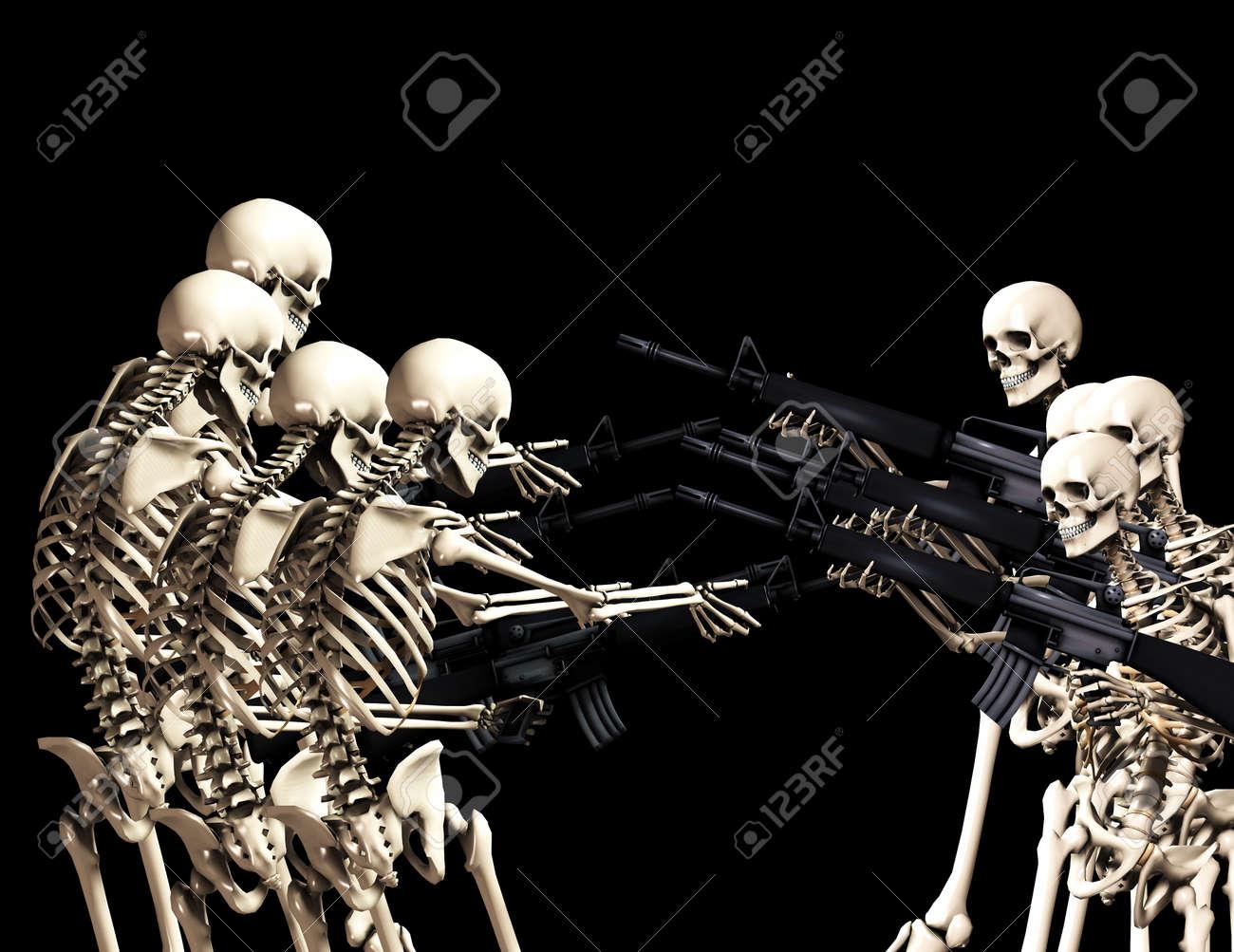 Resultado de imagen para esqueletos con armas