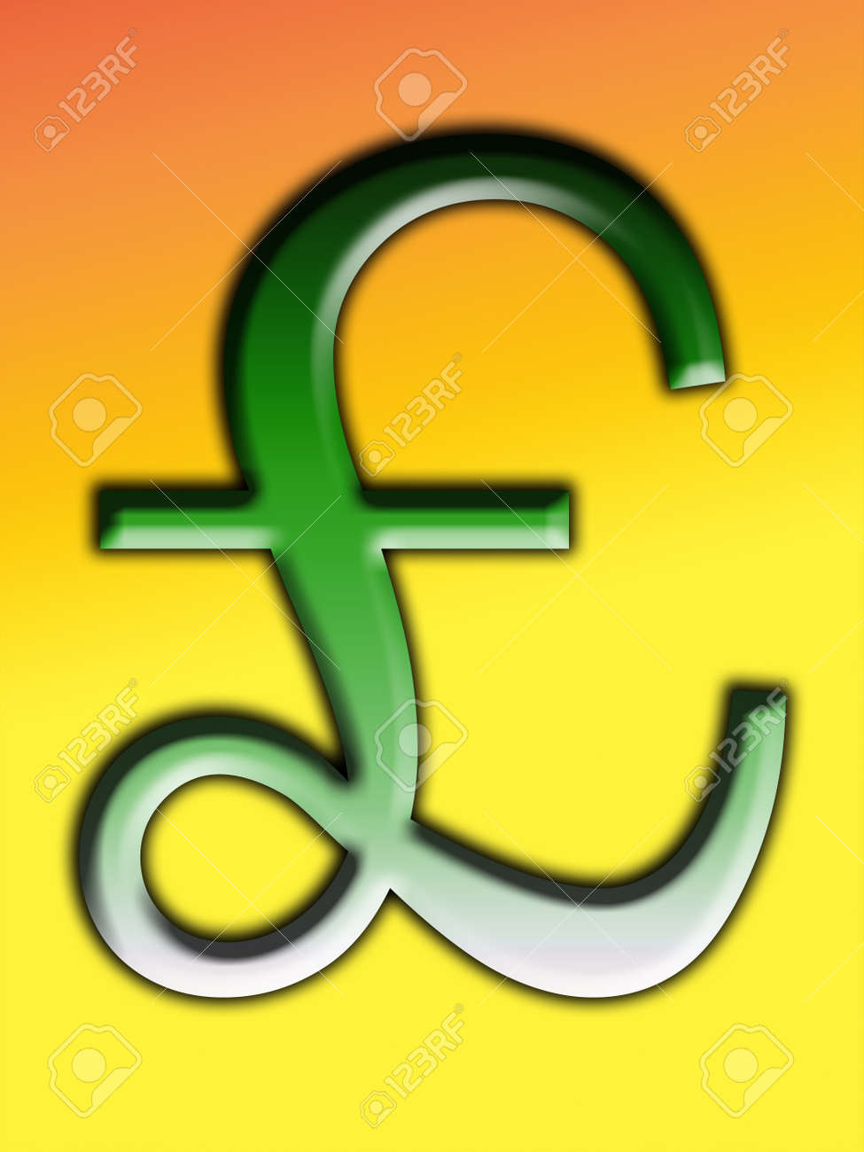 A British Pound Symbol For Money Concepts Stock Photo Picture And