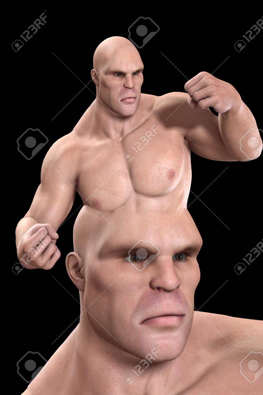 Conceptual image about having a violent mind. Stock Photo - 7455780