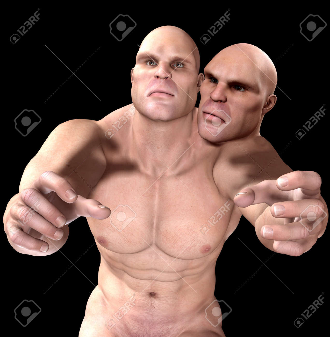 Strange image showing a two headed mutant. Stock Photo - 7455282