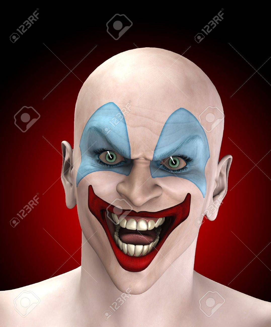 An very evil looking clown for Halloween. Stock Photo - 7768246