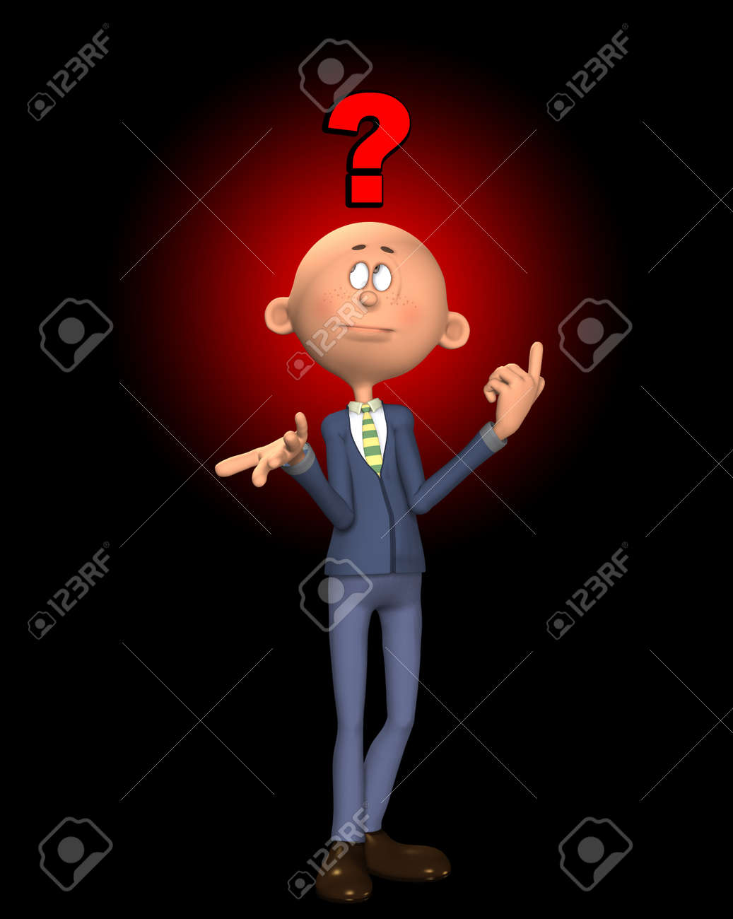 Concept image showing a puzzled and confused man. Stock Photo - 9581060