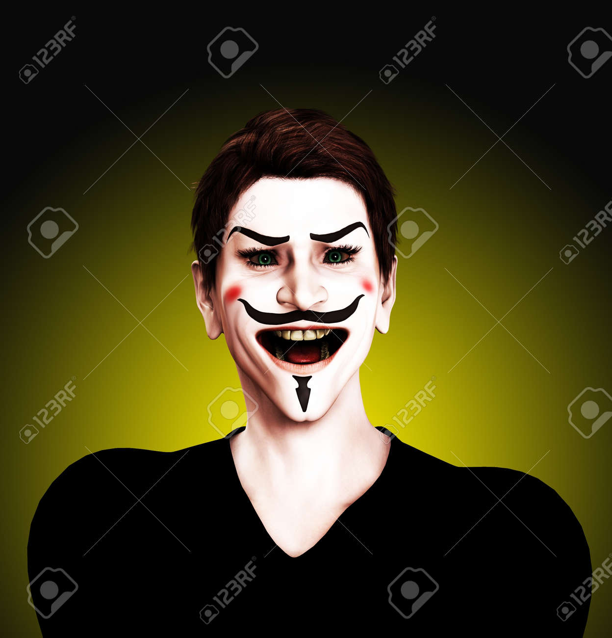 Close up view of an insane Guy Fawkes. Stock Photo - 10569515