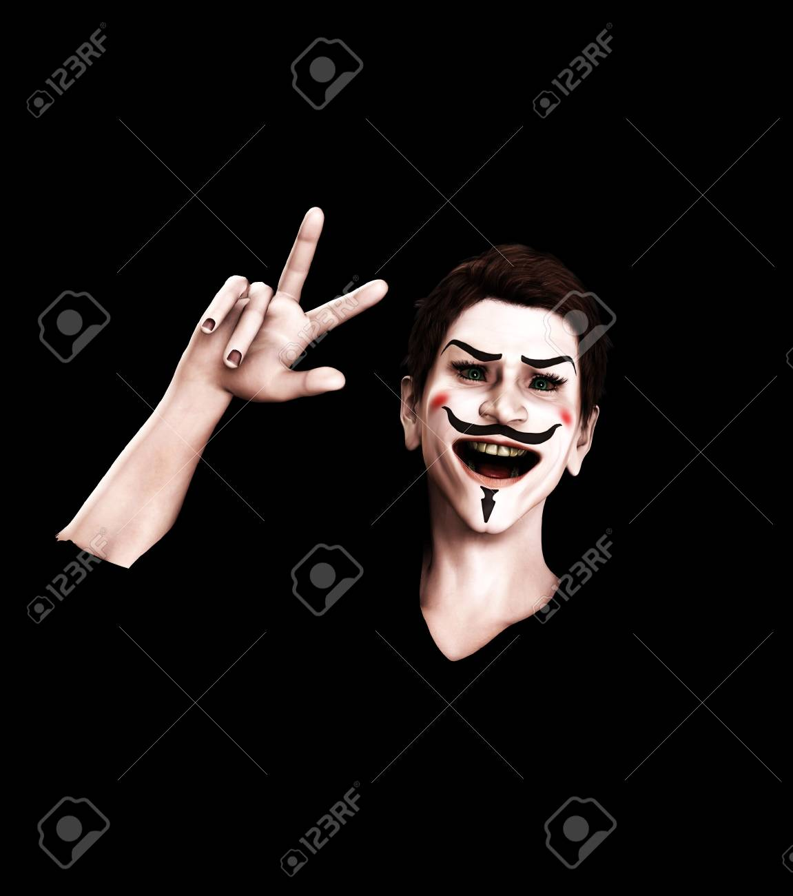 A representation of Guy Fawkes looking victorious. Stock Photo - 11399654