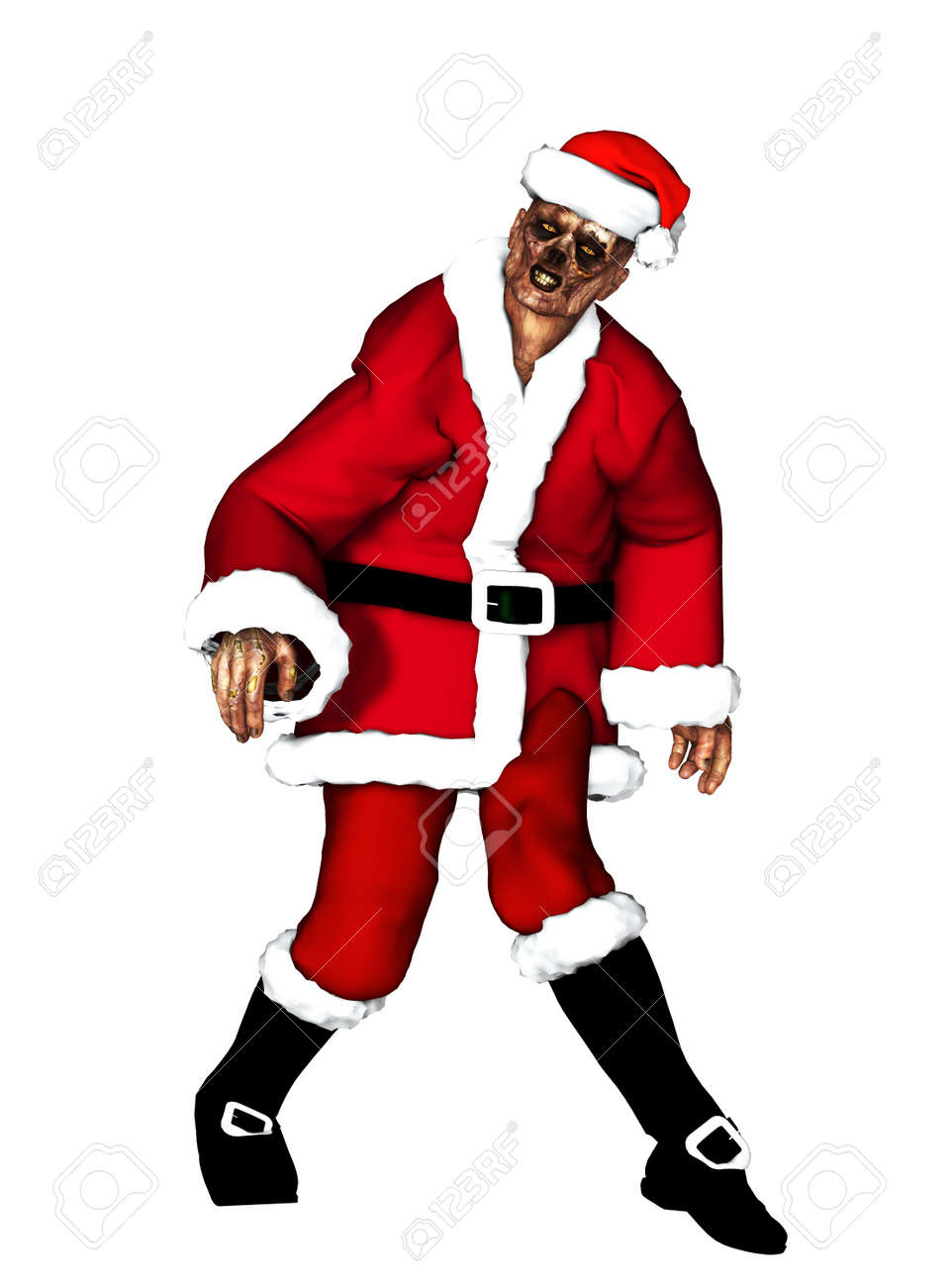 A festive Zombie for the Christmas Holiday Stock Photo - 16879359
