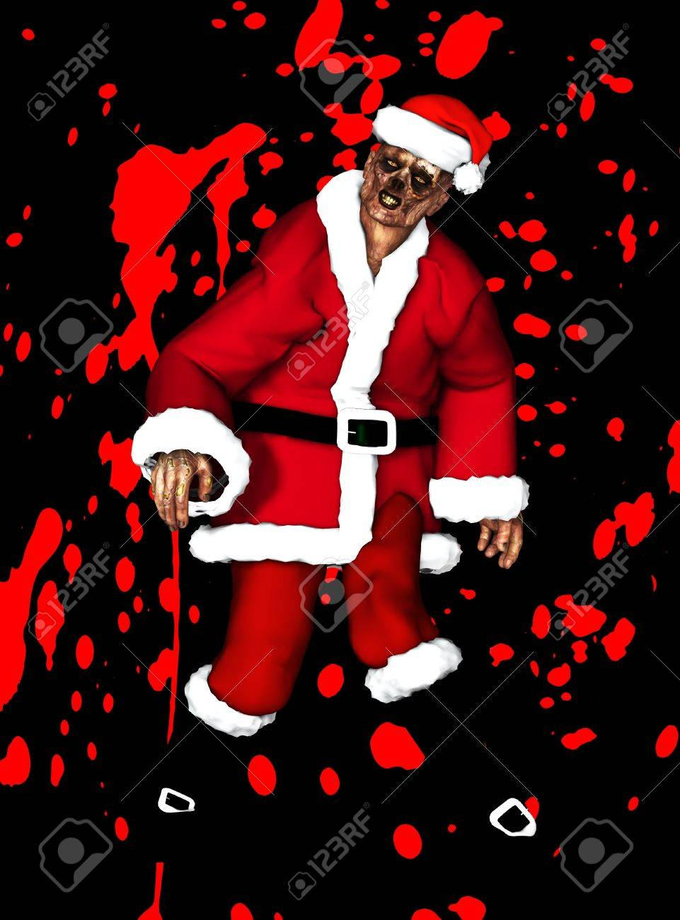 A festive Zombie for the Christmas Holiday Stock Photo - 16879393