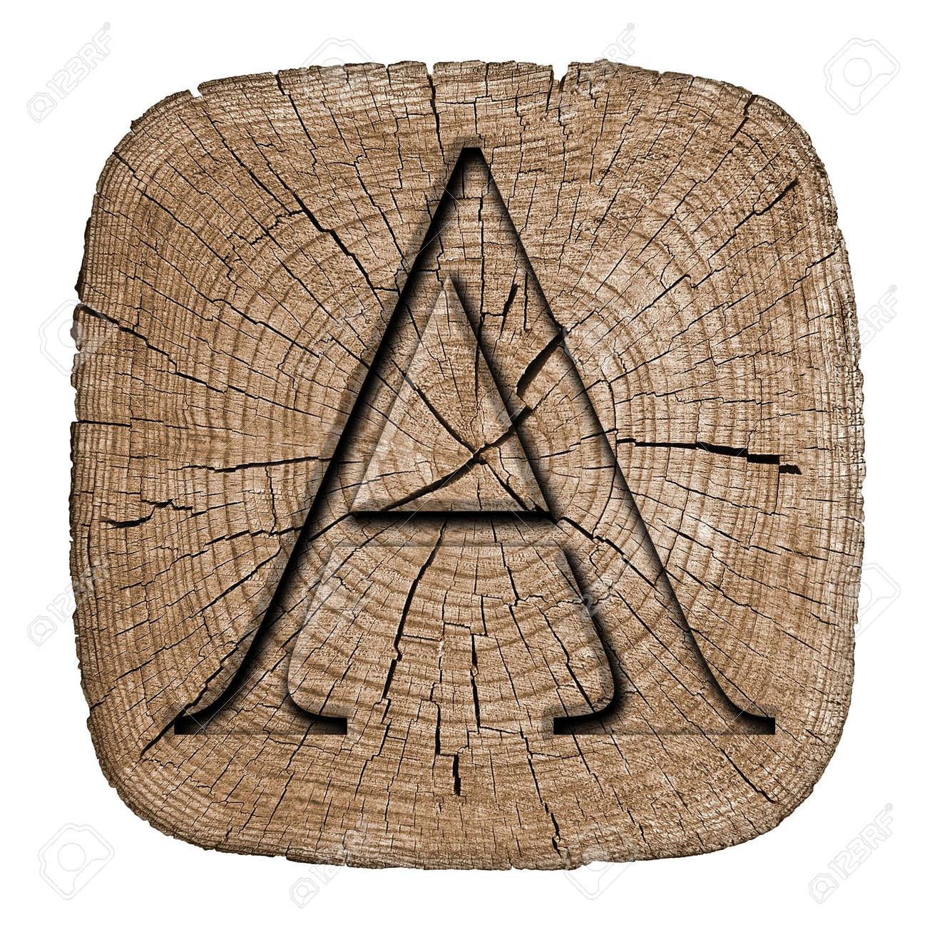 stock photo wooden alphabet block letter a