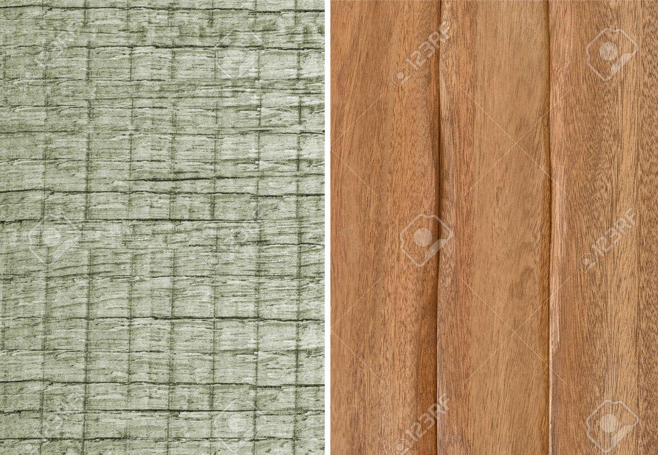 Struttura di legno. pannelli di rivestimento a parete. impostato