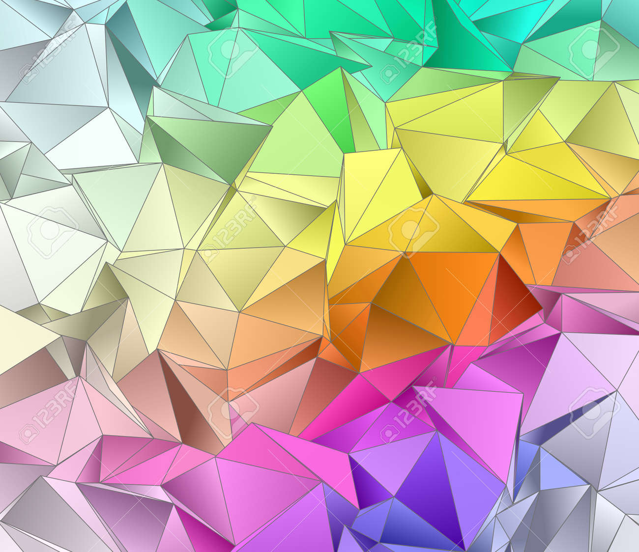 Abstract Background. Triangulated Texture. Design 3d. Polygonal Geometrical  Texture. Triangular Style Mosaic