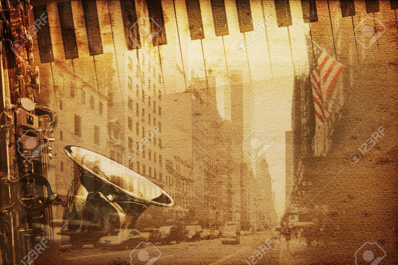 old historical new york background with broadway Stock Photo - 4931979