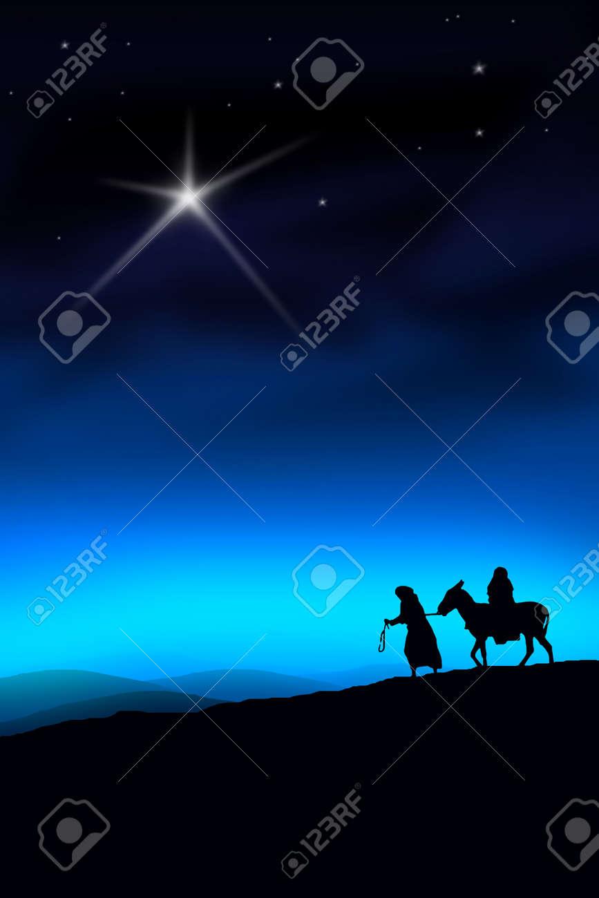 All the way from Nazareth to Bethlehem Stock Photo - 4931898