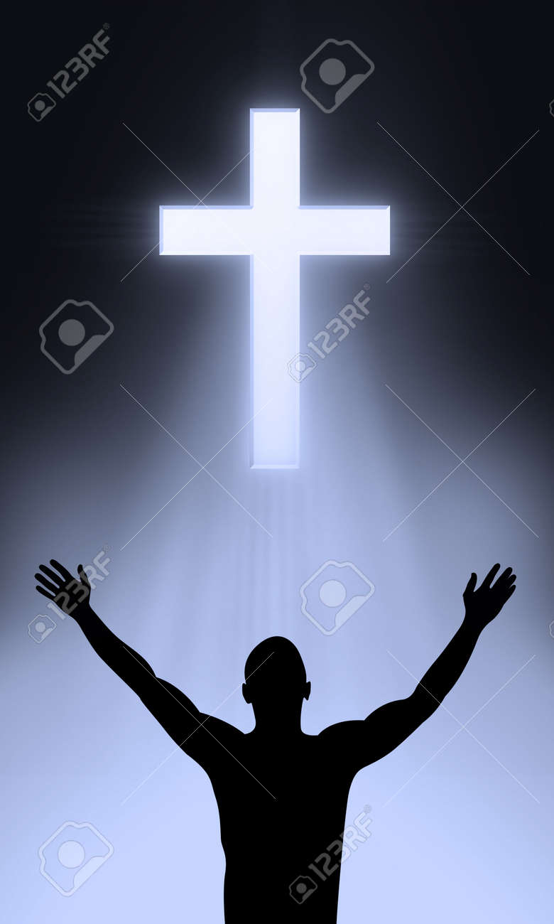 The Cross of Golgahta - Jesus Christ is alive Stock Photo - 4936334