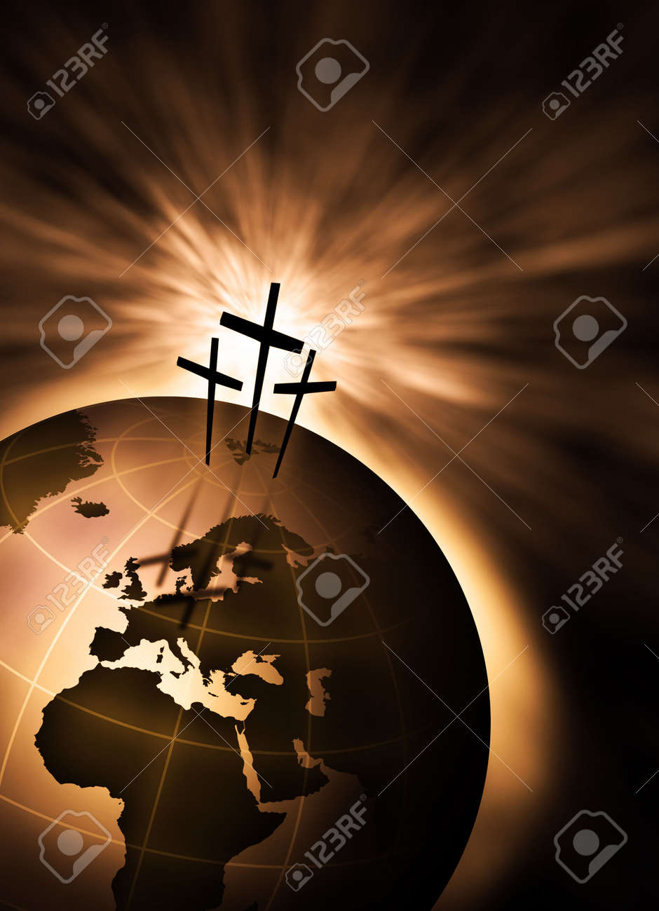 The creation is saved by the Lord Jesus Christ Stock Photo - 4936357