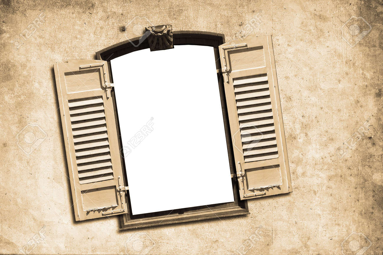 Old Window Old Window With Wall In Retro Design Look Stock Photo Picture And