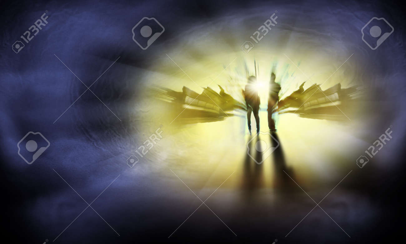 Two Persons are on the way to eternal life Stock Photo - 14891800