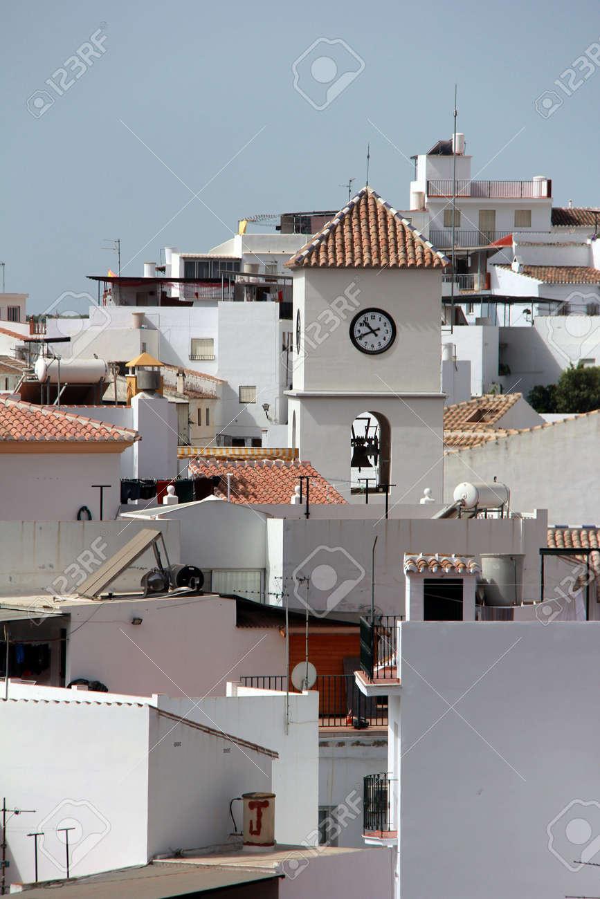 white church in the village of algarrobo andalusia spain Stock Photo - 15236890