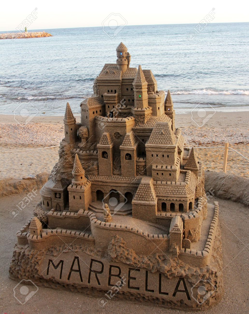 large sandcastle on the beach in spain Stock Photo - 15236894