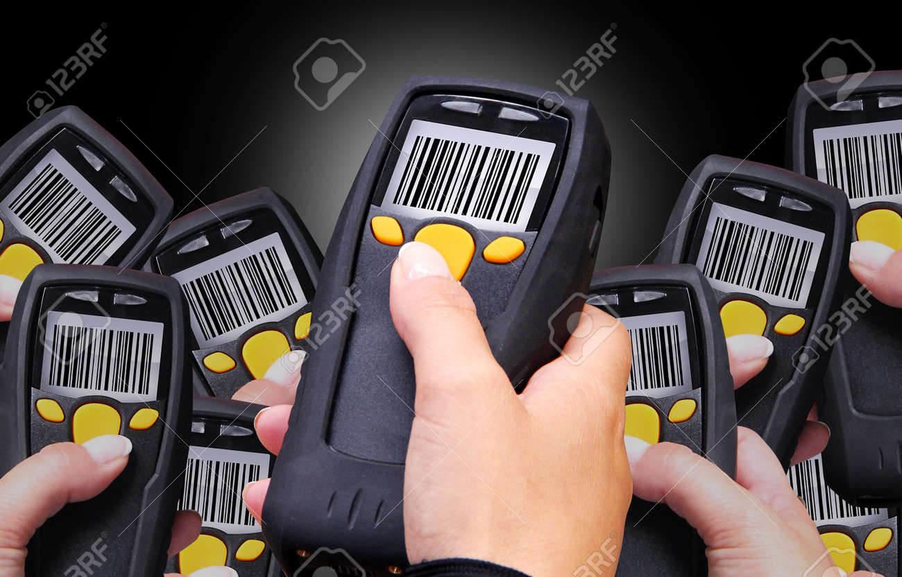 Handheld Computer for wireless barcode scanning identification Stock Photo - 15678678