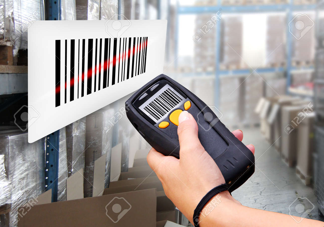 Handheld Computer for wireless barcode scanning identification Stock Photo - 15678677