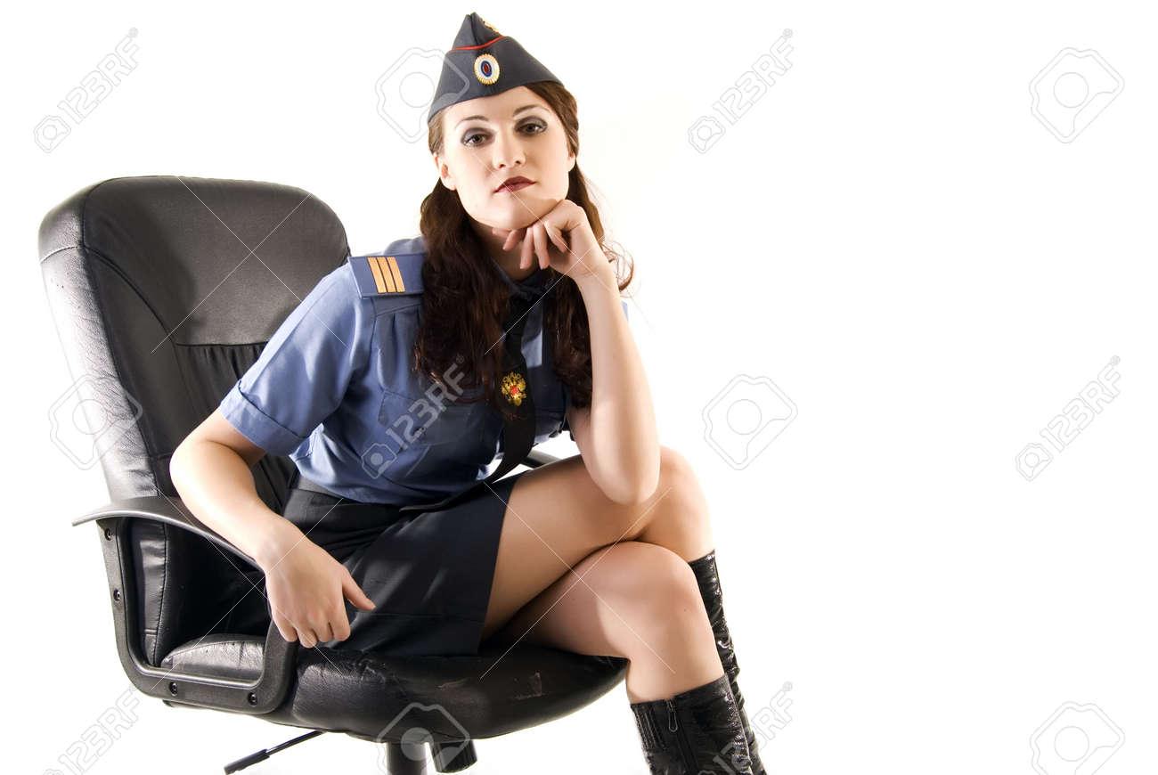 Фото дамы в униформе 1 фотография