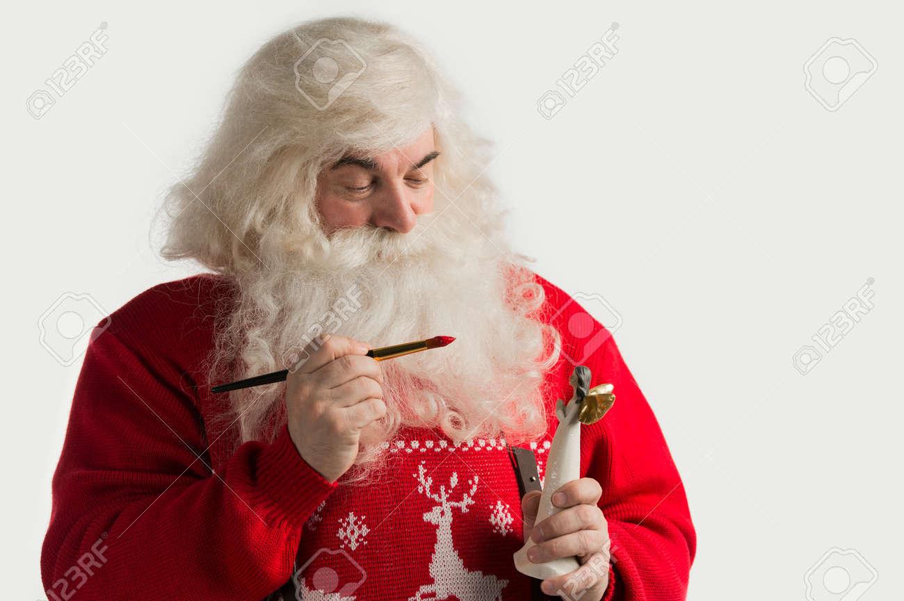 Y De Noel Hace Navidad Papá Decoración Estatuilla JuguetesPintura Que Colorear Para Ángel HDE92WI