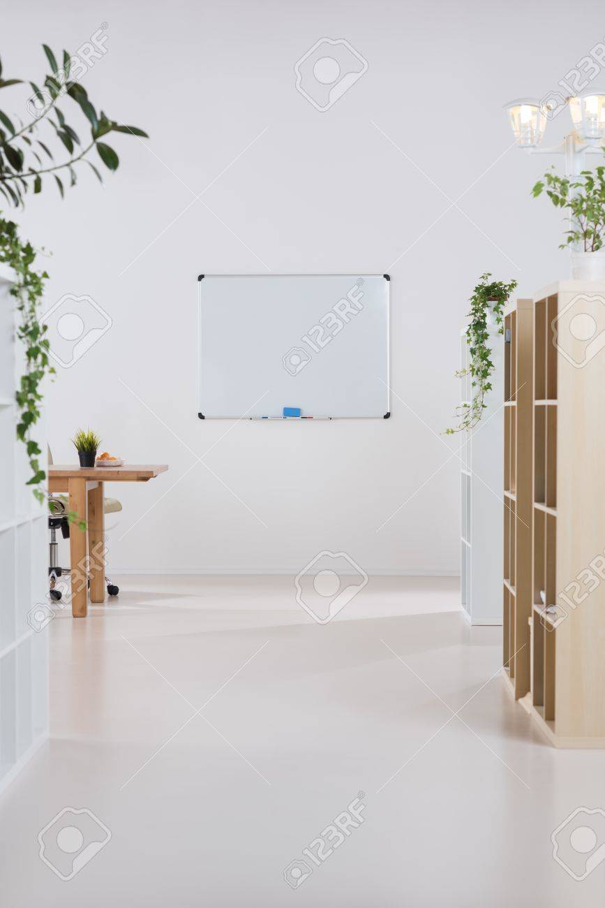modern office plants. interior of a modern office with plants and no people stock photo 36263025