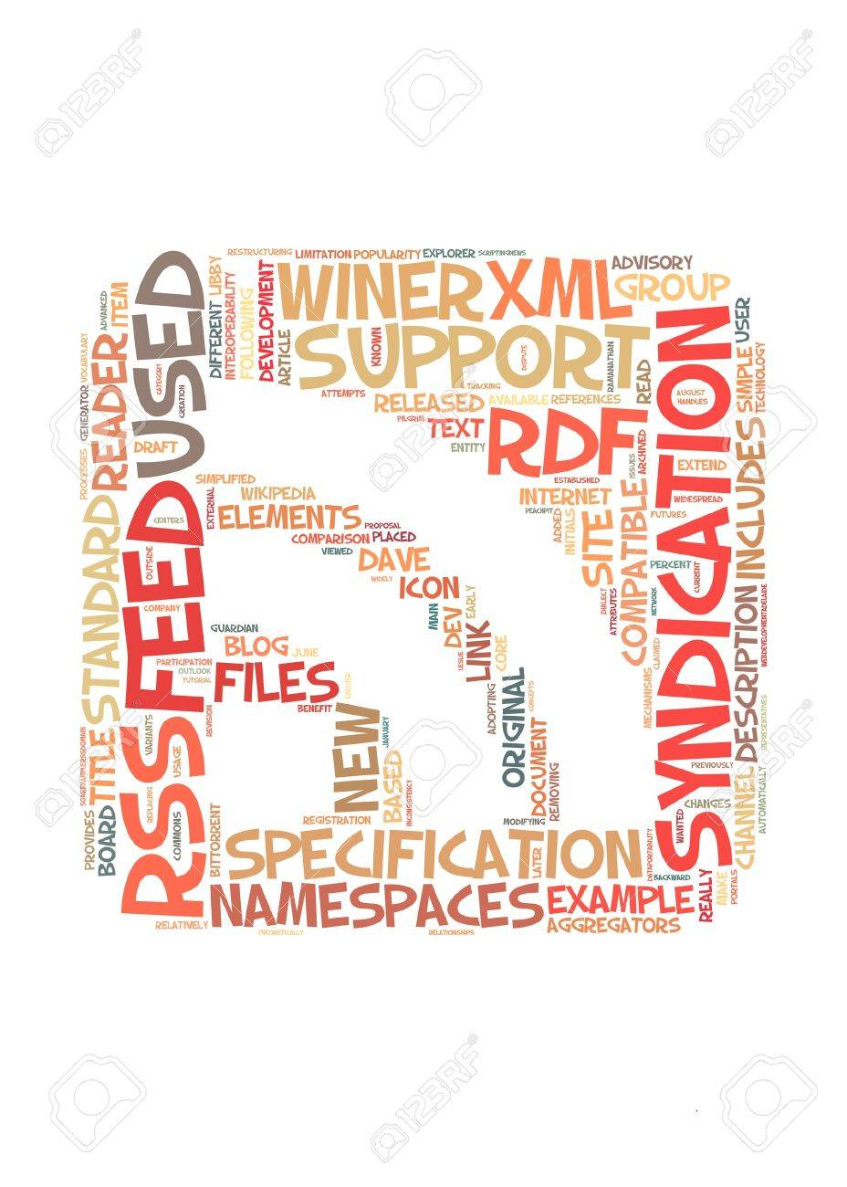 RSS symbol info-text graphic and arrangement concept Stock Photo - 12324389