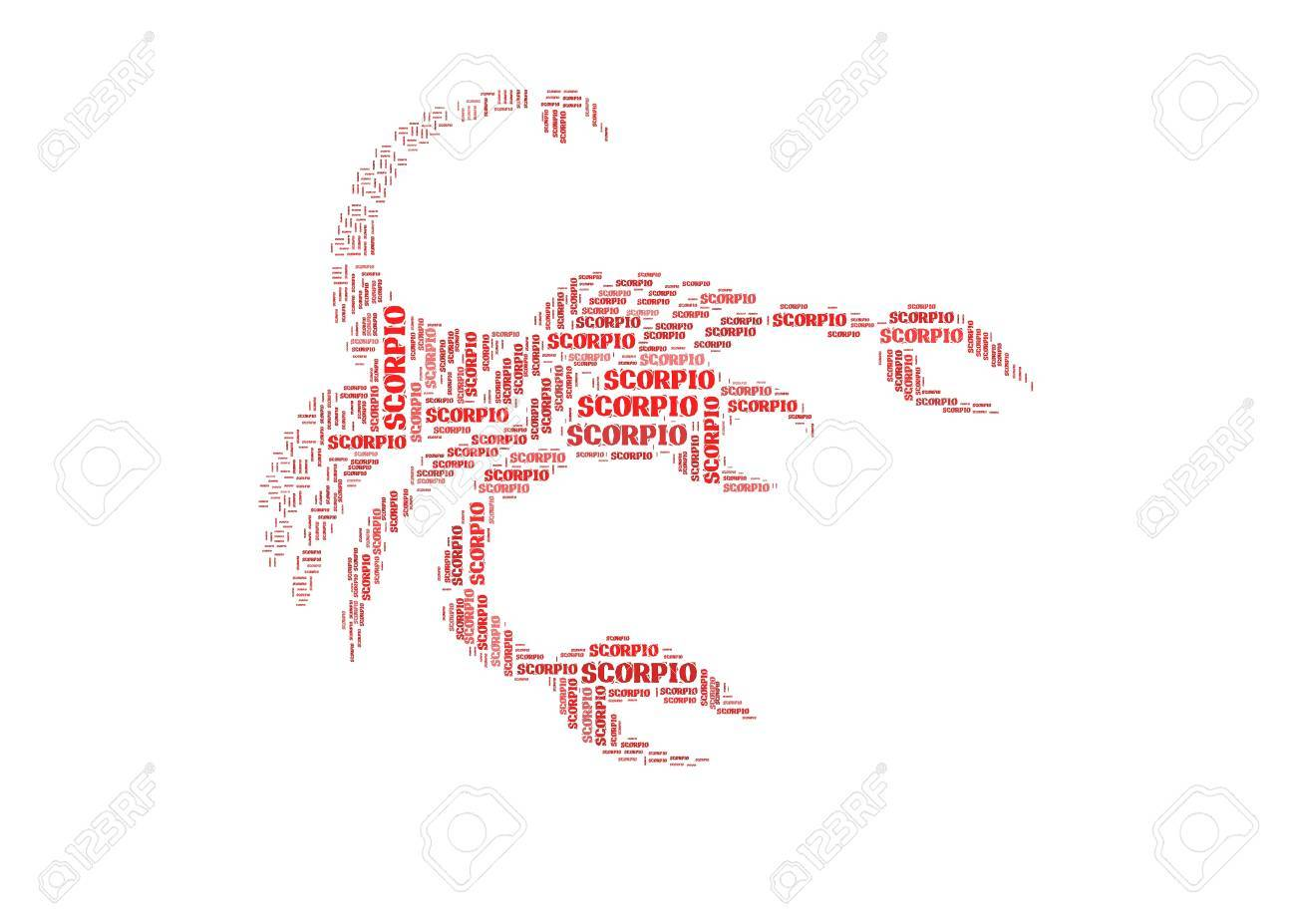 Text Cloud Symbol Of Scorpio Stock Photo Picture And Royalty Free