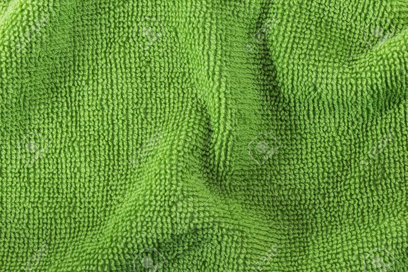Texture Di Onda Cotone Verde Telo Da Bagno Foto Royalty Free ...
